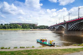 National Stadium in Warsaw at the Vistula river, Poland — Stock Photo