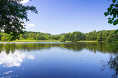 Idyllic lake scenery — Stock Photo