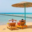 Stock Photo: Relax on the beach at Red Sea