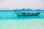 Boat on the Egyptian Red Sea — Stock Photo