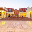 Beautiful architecture of Hurghada Marina — Stock Photo