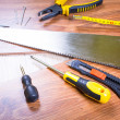 Stock Photo: Set of tools for home renovation