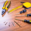 Set of tools for home renovation — Stock Photo