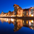 Old town of Gdansk at night — Stock Photo #31993287
