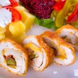 Stuffed chicken rolls — Stock Photo