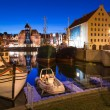 Old town in Gdansk at night — Stock Photo