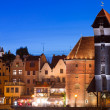 Old town of Gdansk at night in Poland — Stock Photo #32782807
