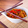 Chow mein noodles with chicken — Stock Photo #32782891