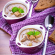 Mushroom soup with potato — Stock Photo