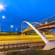 Stock Photo: Architecture of highway viaduct at night