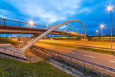 Architecture of highway viaduct at night — Stock Photo