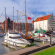 Harbor at Motlawa river in old town of Gdansk — Stok fotoğraf