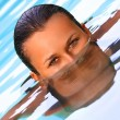 Swimming pool portrait — Stock Photo