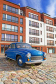 Old vintage car on the street of Gdansk — Foto Stock