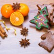 Christmas bakery with gingerbread cookies — Stock Photo