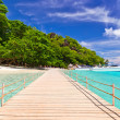 Stock Photo: Pier to tropical island