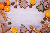 Christmas bakery frame — Foto Stock