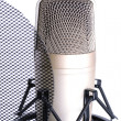 Stock Photo: Microphone isolated on white