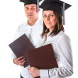 Stock Photo: Happy graduating students