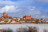 Teutonic castle in Gniew town at Wierzyca river — Stock Photo