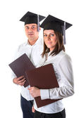 Happy graduating students — Stock Photo