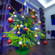 Christmas tree with decorations — Stock Photo