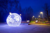 Pruszcz Gdanski with Christmas baubles, Poland — Stockfoto