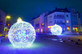 Pruszcz Gdanski with Christmas baubles, Poland — Стоковое фото