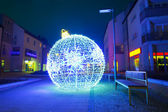Pruszcz Gdanski with Christmas baubles, Poland — Stock Photo