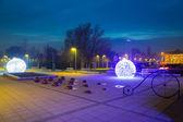 Gdanski pruszcz con adornos de navidad, polonia — Foto de Stock