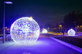 Pruszcz Gdanski with Christmas baubles, Poland — ストック写真