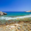 Stock Photo: Rocky beach with blue lagoon on Crete