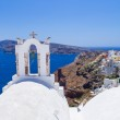 White architecture of Oia town on Santorini island — Stock Photo #39458259