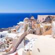 White architecture of Oia town on Santorini island — Stock Photo