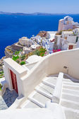 White architecture of Oia town on Santorini island — Stock Photo