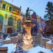 Fountain of the Neptune in old town of Gdansk — Stock Photo #39460147