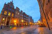 Arquitectura del casco antiguo de gdansk — Foto de Stock