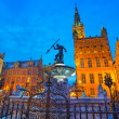 Fountain of the Neptune in old town of Gdansk — Stock Photo #39773197