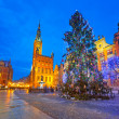 Old town of Gdanks with Christmas tree — Stock Photo #39773487
