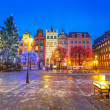Old town of Gdanks with Christmas tree — Stock Photo #39773619