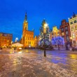 Old town of Gdanks with Christmas tree — Stock Photo #39773721