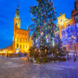Old town of Gdanks with Christmas tree — Stock Photo #39773825