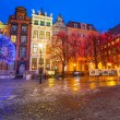 Old town of Gdansk at night — Stock Photo