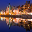 old town of gdansk at night — Stock Photo #39774963
