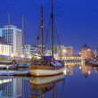 Marina at Motlawa river in Gdansk — Stock Photo