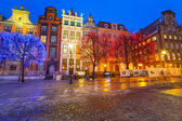 Old town of Gdansk at night — Stok fotoğraf