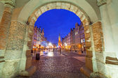 The Green Gate in old town of Gdansk — Stock Photo