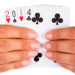 Lucky year 2014 in cards — Stock Photo #41007749
