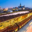 Stock Photo: Main railway station at night in Gdansk