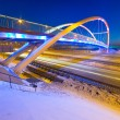 Foothpath bridge over bypass of Gdansk — Stock Photo #41484935